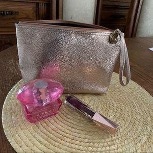 ROC RoseGold All Purpose Pouch Makeup Wristlet Bag